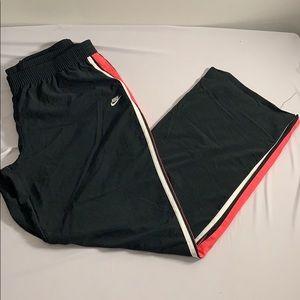 Nike Pink Striped Black Pants XL